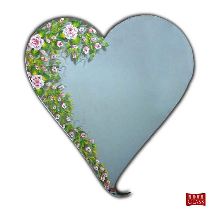 Καθρέπτης καρδιά ζωγραφισμένος Νο 1006