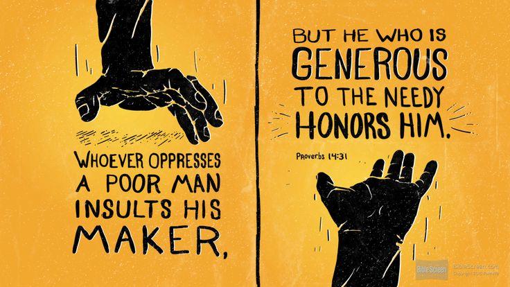 Proverbs 14:31
