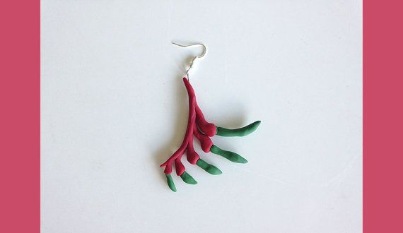 Kangaroo Paw Earrings Single or Pair by Molly Coombs Marr on Etsy | Polymer Clay | Jewellery | Design | Australia | Australiana