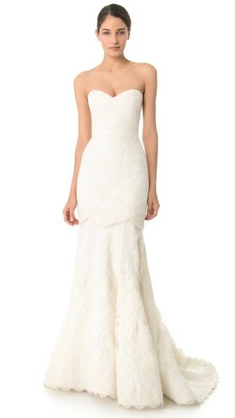 Reem Acra Lace Me Up Skirt Converts To Full Wedding Gown With Mini Dress