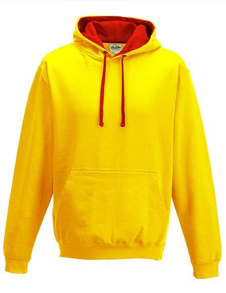 Varsity Hoodie - Sun Yellow/Fire Red