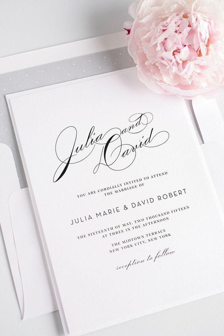 Vintage Typography Wedding Invitation - Elegant, Calligraphy, Vintage Wedding Invitations - Silver, Gray - Vintage Glam Invitation - Deposit by ShineInvitations on Etsy https://www.etsy.com/listing/235698779/vintage-typography-wedding-invitation