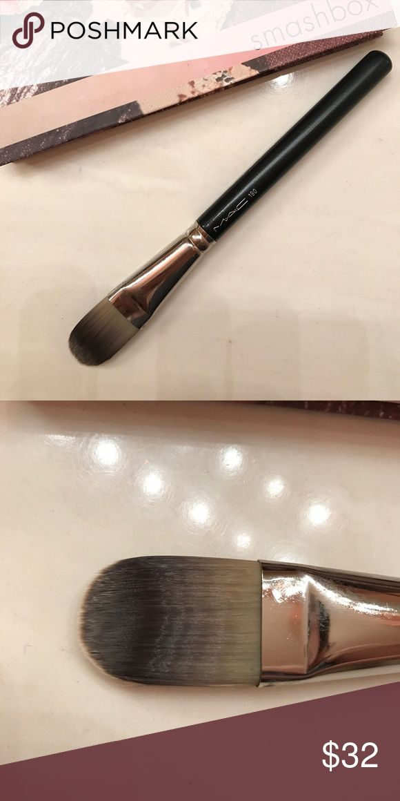 MAC 190 Foundation Brush Downsizing my brush collection and this one has sadly never been used. Purchased from my MAC counter and is great for applying liquid foundations. MAC Cosmetics Makeup Brushes & Tools
