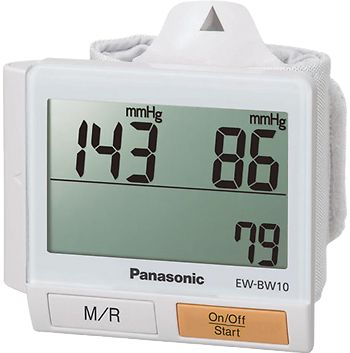 Portable Wrist Blood Pressure Monitor with Body Movement Detection and Extra-Wide LCD Display - EW-BW10W