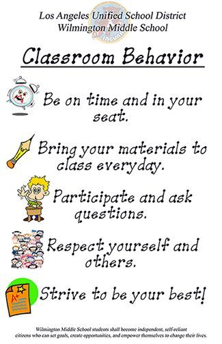 middle school classroom rules - Yahoo Image Search Results