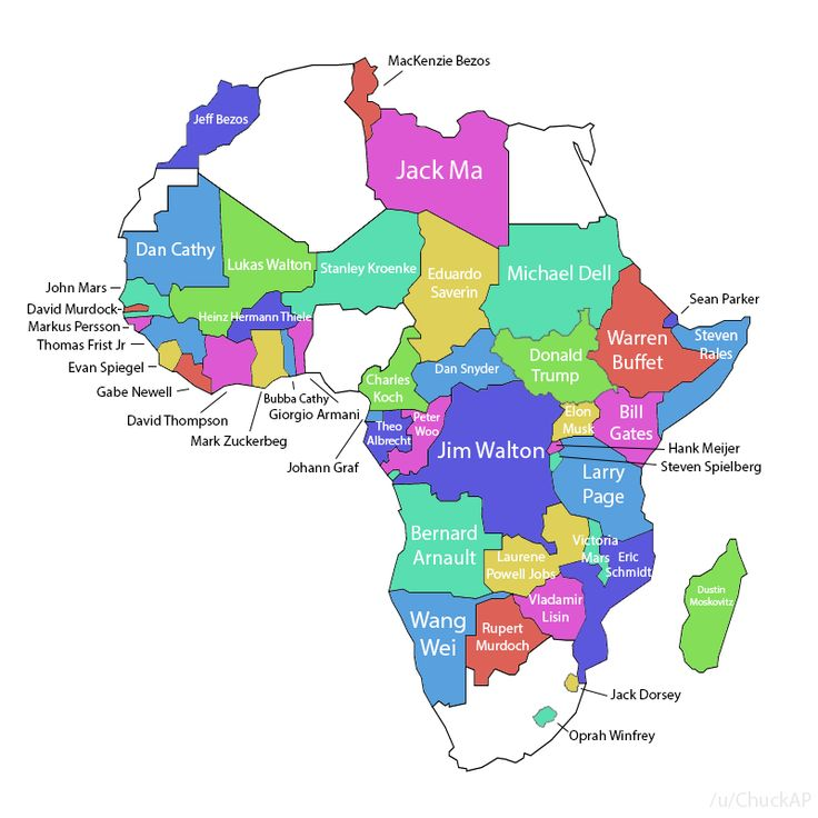 World Map Of Billionaires 2018 Vivid Maps Map Evan Spiegel African Countries