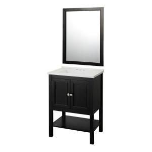 Foremost Addie 25 in. Vanity in Espresso with Cultured Marble Vanity Top in White and Mirror-ADEVC2418 at The Home Depot