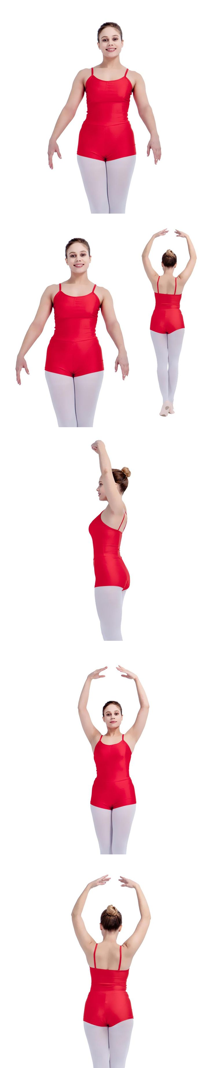 Retail Wholesale Red,Black and More Colors Nylon/Lycra Camisole Ballet Dancing Unitards for Girls and Ladies