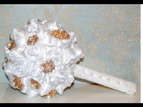Как сделать Букет Невесты Своими Руками / Bridal bouquet. Tutorial / ✿ NataliDoma - YouTube