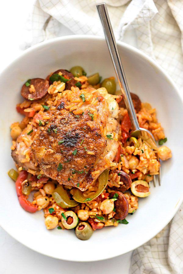 Spanish Chicken and Rice   foodiecrush.com