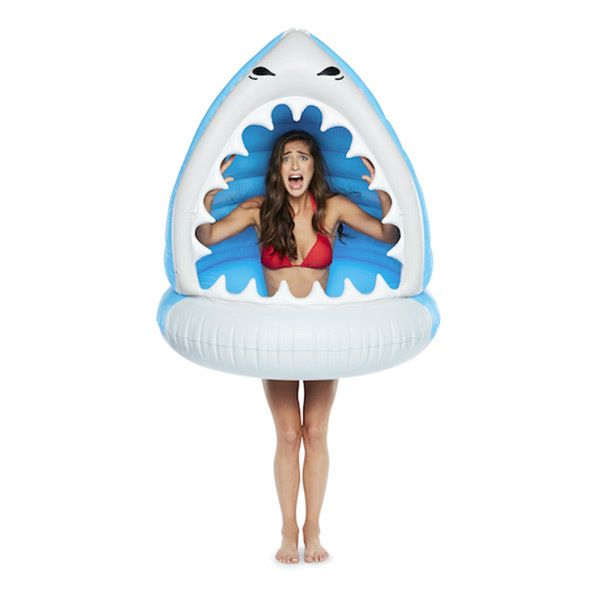 Giant Man-Eating Shark Pool Float in Big Mouth Toys Floats