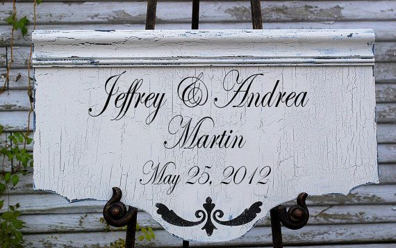PERSONALIZED Wedding Sign Bride and Groom 14x24 by familyattic, $69.95