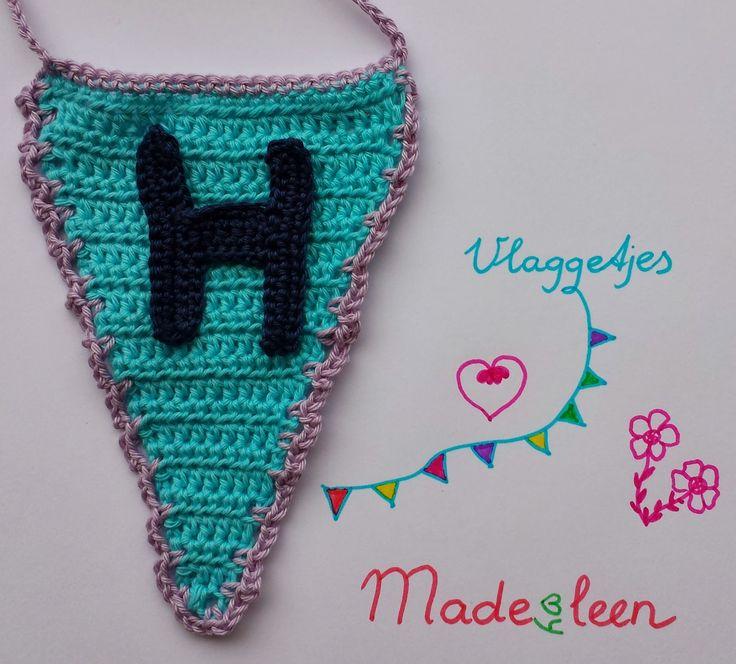♥ Haken ♥ : Patroon gehaakte vlaggetjes met letters / Pattern crocheted bunting with letters