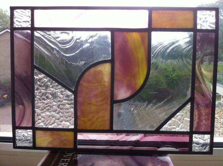 First project / Mijn eerste project van glas in lood