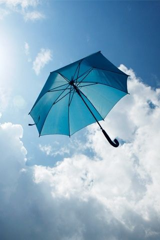 High flying blue umbrella | by Jasonmon