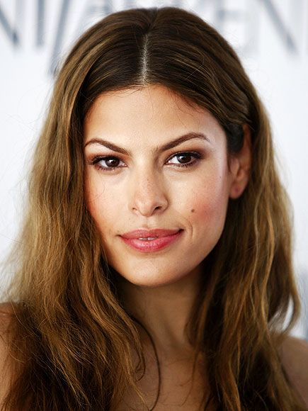 "Eva Mendes-- I think she looks so much more beautiful when she's more ""au natural"" and bohemian."