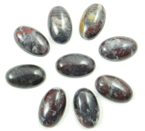 1 x Natural Brecciated Jasper Cabochon by CraftSuppliesShops