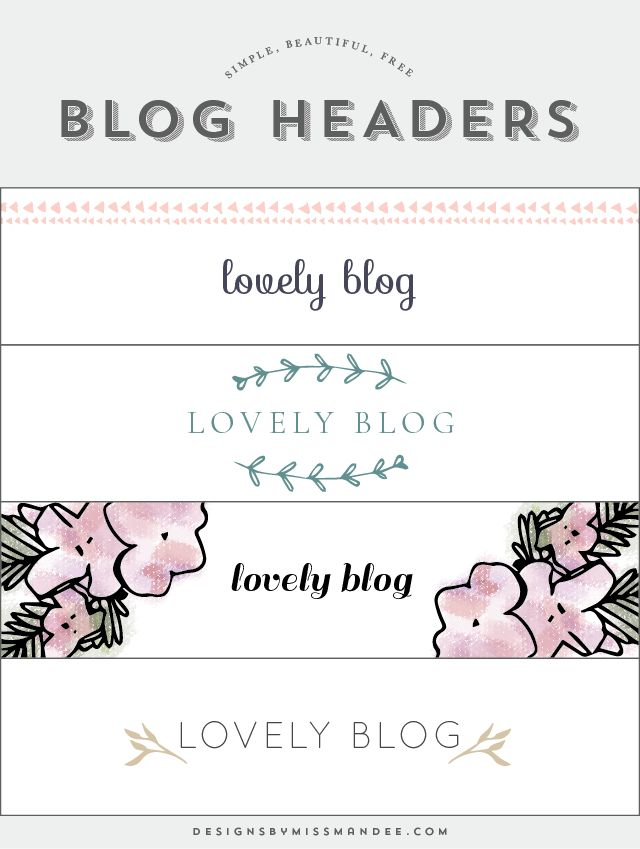 Blog Header Designs | Blog header design, Header design and Free blog