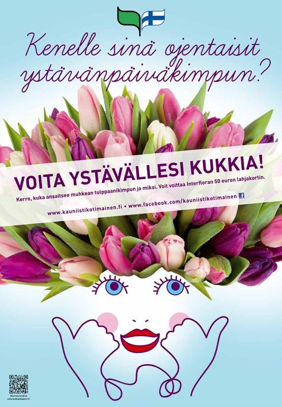 Kauniisti kotimainen - Kenelle sinä ojentaisit ystävänpäiväkimpun? 2012