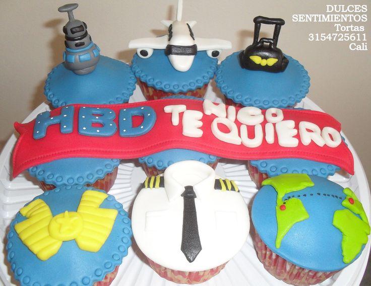 Fuerza aérea Colombia cupcakes
