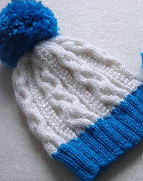 Knitting Popcorn Stitch Instructions : Popcorn Stitch Cable Hat Knit hats, Popcorn and Stitches