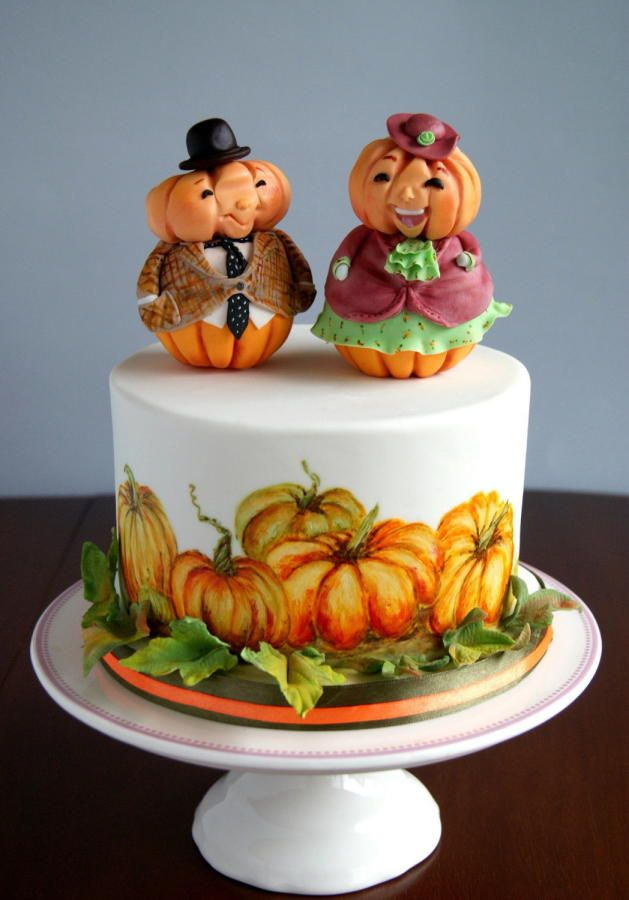 pumpkin cake by katarzynka - Halloween Decorated Cakes