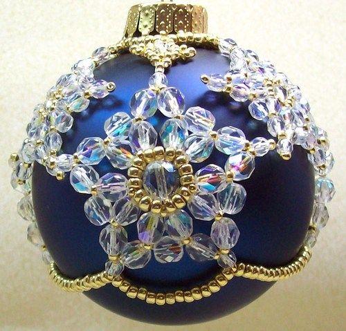 Beading around an ornament