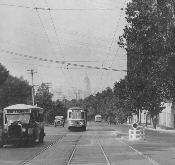 Looking south on Gilbert Ave. Baldwin Piano on right In Cincinnati 1929.