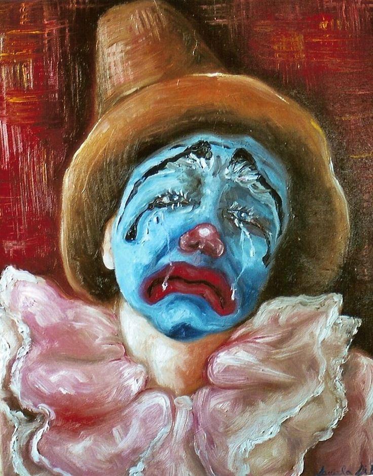 """""""Clown"""", olio su tela , 40x50 cm"""