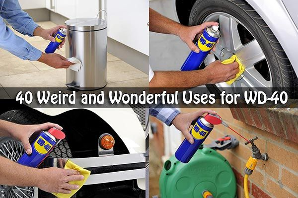 40 Weird and Wonderful Uses for WD-40 via @livinggreenandf