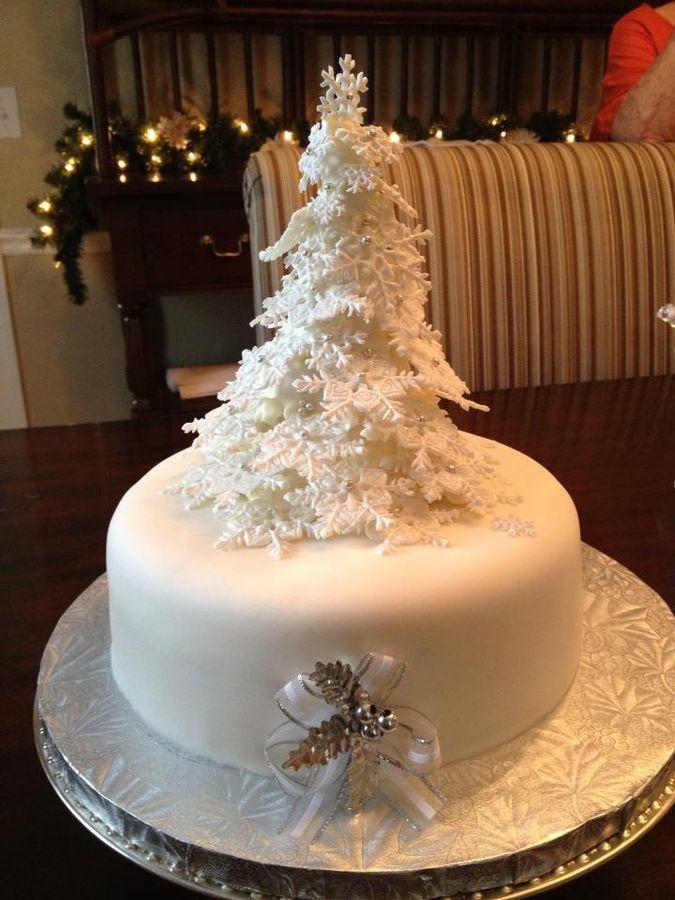 December birthday cake   Cake   Pinterest