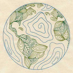 "Embroidery Designs at Urban Threads - Leafy Earth (#UT2460) 5.86""w x 5.82""h 12 July 2010"