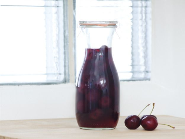 Fresh, sweet summer cherries transform into something deeper in this simple cherry liqueur.