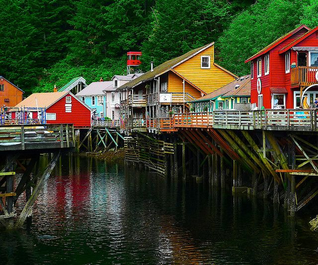 Ketchikan Alaska.  Go to www.YourTravelVideos.com or just click on photo for home videos and much more on sites like this.