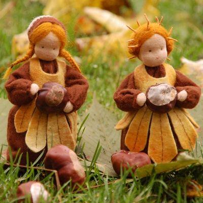 Kastanienmädchen #Jahreszeitentisch #seasontable