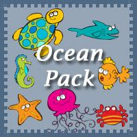 Free Ocean Pack by 3Dinosaurs.com! Made to be used with children from 2 to 7. Over 60 pages long!