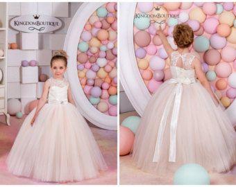 Ivory Flower Girl Dress Bridesmaid Birthday by KingdomBoutiqueUA