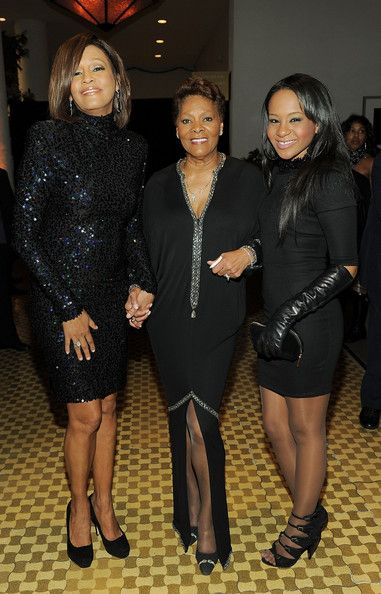 Whitney Houston, Bobbi Kristina Brown & Dionne Warwick' at the 53rd Annual GRAMMY Awards - Salute To Icons Honoring David Geffen