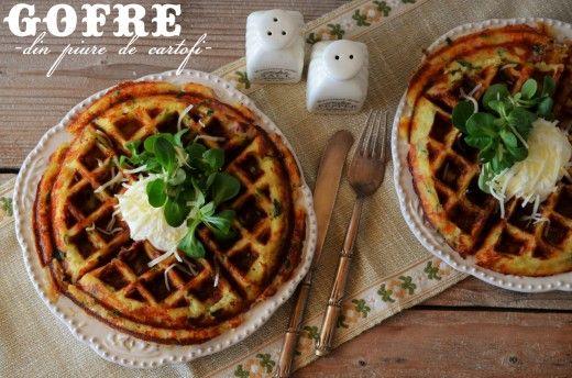 Gofre din piure de cartofi - ideale pentru micul dejun, pranzul din caserola sau pachetelul de la scoala.