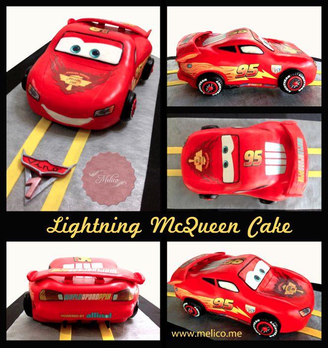 3D Cake - Cars Lighting Mcqueen Cake. #3dcake #cake #ediblecake #sculptedcake #noveltycake #birthdaycake #kidsbirthday #sugarart -- Like and Follow us #melicobali (Instagram) || www.melico.me