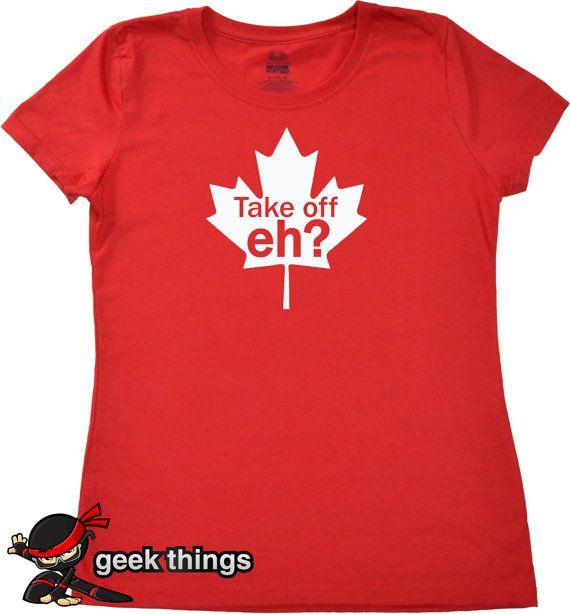 Womans Canada shirt funny Canadian geekery tshirt by geekthings, $14.99
