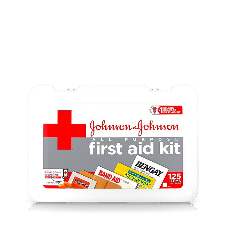 125 Pieces Red Emergency Hospital Cross All Purpose First Aid Kit Medical #JohnsonJohnsonRedCross