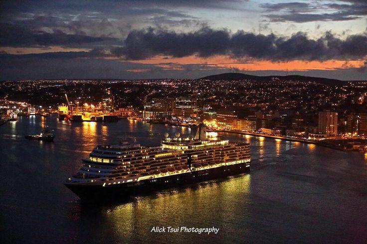 Eurodam leaving St. John's harbour