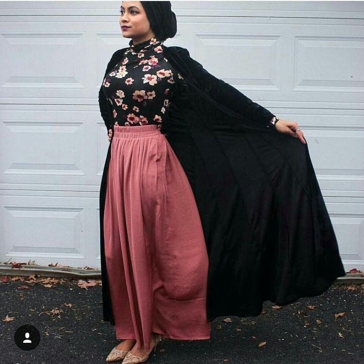 Like the colors and combination of the maxi skirt and the floral top
