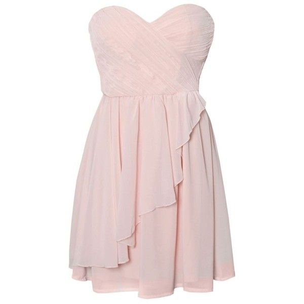 Rare Ruffle Bandeau Dress ($23) ❤ liked on Polyvore