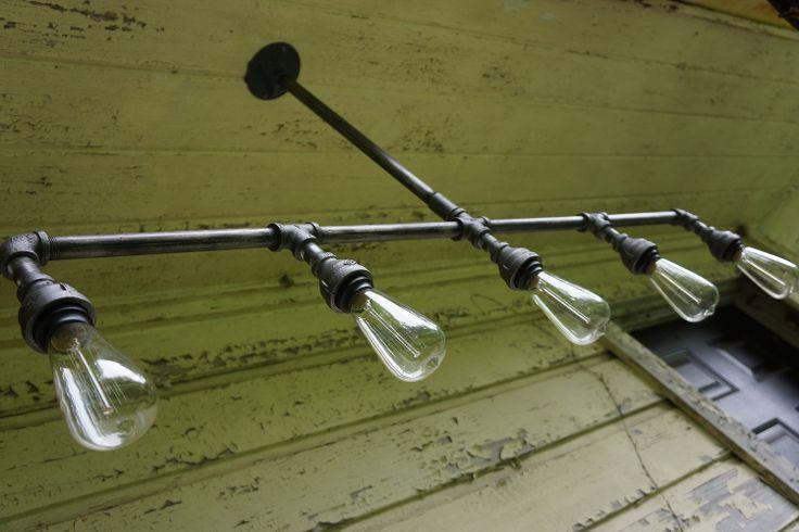 Iron Age Five Light Raw Metal Iron Lighting by steampunkdesignshop, $169.00