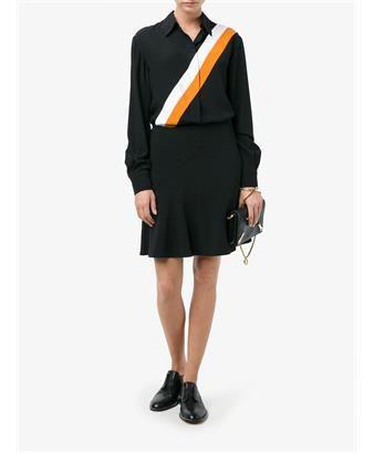 STELLA MCCARTNEY - Odette Stripe Print Silk Shirt