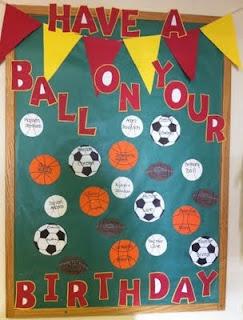 Sports theme birthday board: Sports Theme, Classroom Theme, Clutter Fre Classroom, Theme Classroom, Birthday Boards, Birthday Bulletin Boards, Classroom Ideas, Boards Ideas, Kindergarten Blog