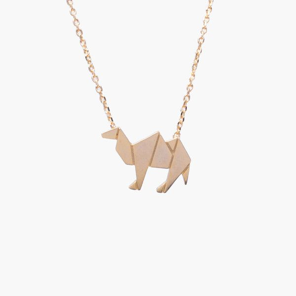 Camel Gold Origami Necklace