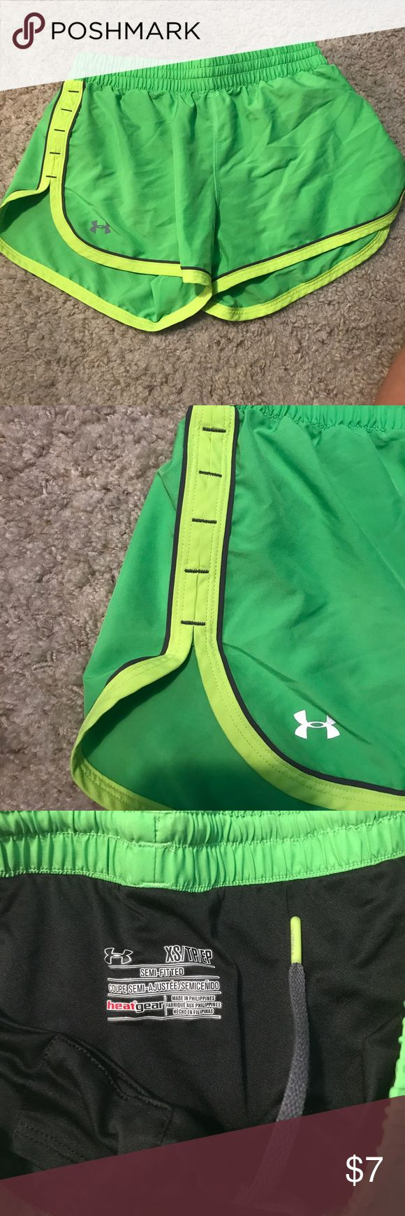 Green and lime green shorts Cute athletic shorts Under Armour Shorts